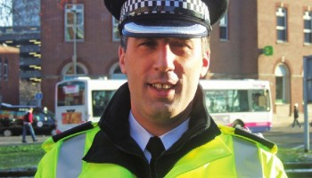 Working hard on the beat