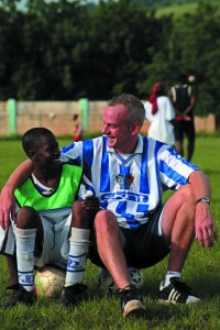 Norman Cook, with Fousseini Cisse (14) an orphan from SOS orphange. (07967 353 220)
